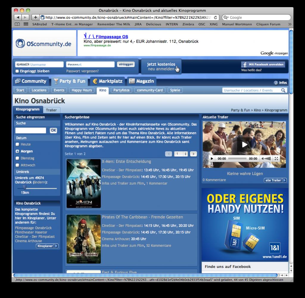 Kinoprogramm Osnabrück