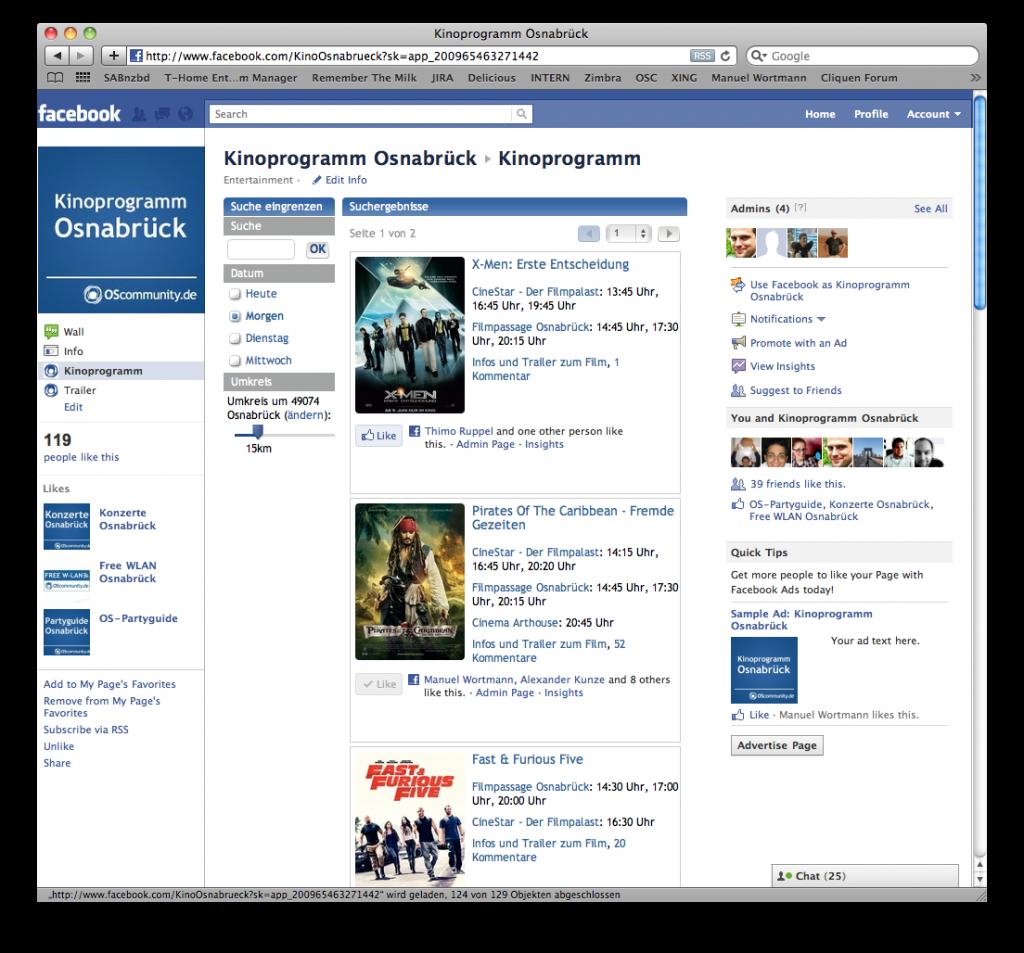 Osnabrück Kinoprogramm bei facebook