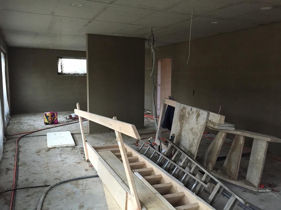Wohnbereich verputzt