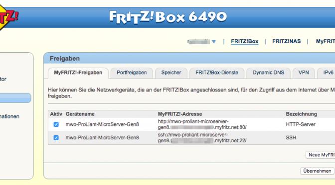 SSH-Verbindung über FritzBox bei IPv6 bei Kabel Deutschland